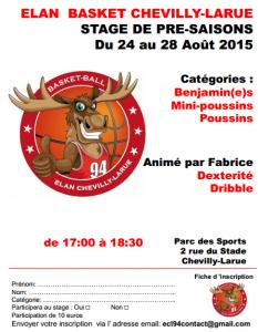 Stage Aout 2015 - Ecole de Basket