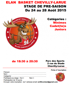 Stage Aout 2015 - MincadJunior